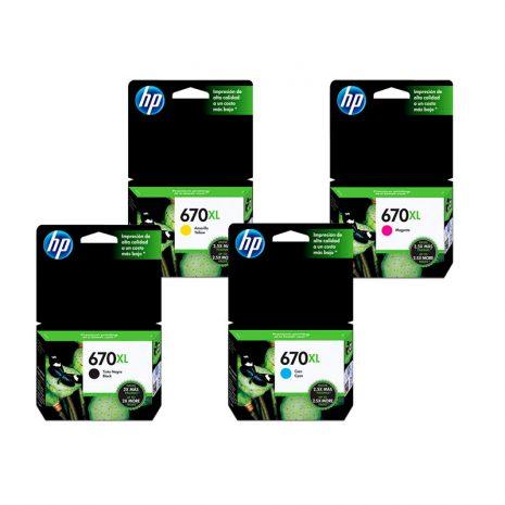 Cartucho HP 670XL
