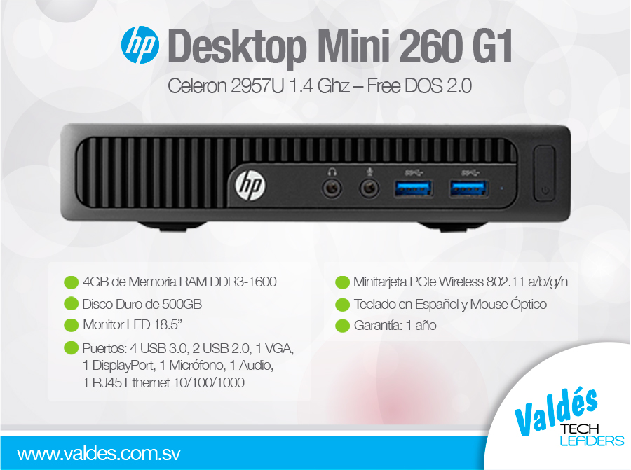HP-Desktop-Mini-260 by Valdés