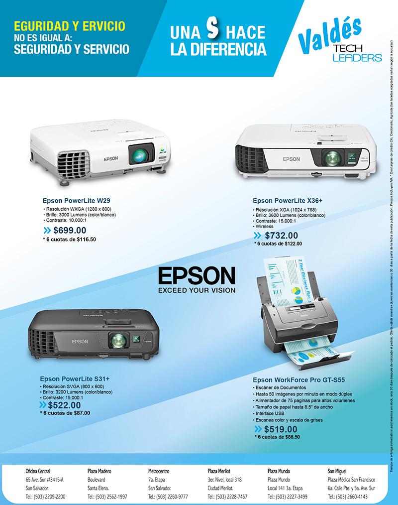 Proyectores y Escáner Epson