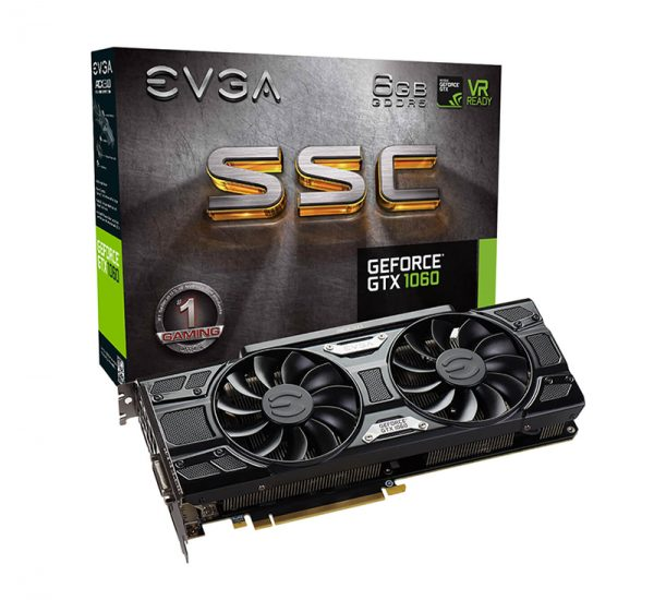 Tarjeta Video EVGA GeForce GTX 1060 6GB GDDR5 SSC ACX 3.0 EVG-06G-P4-6264-KR