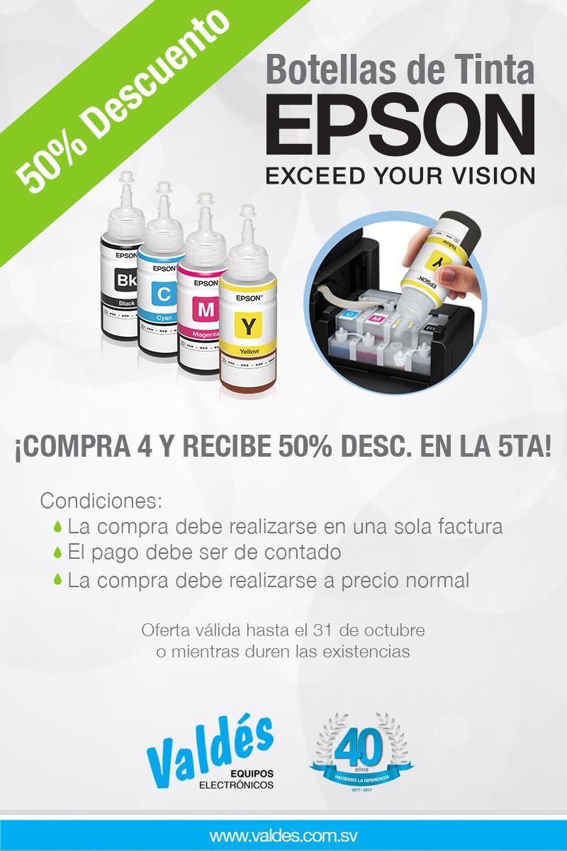 50% De Descuento En Tu Botella De Tinta Epson