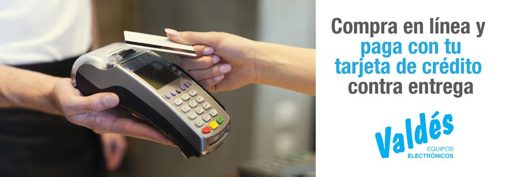 Compra en línea y paga con tu tarjeta de crédito contra entrega
