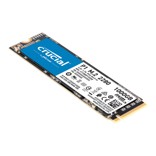 Unidad Estado Solido CRUCIAL 1TB P1 3D NAND NVME PCIE M.2 SSD