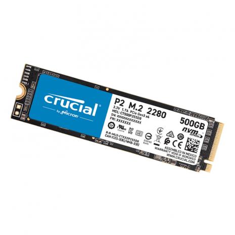 CRUCIAL 500GB P2 3D NAND NVME PCIE M.2 SSD
